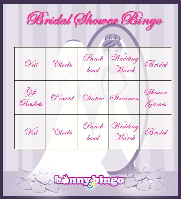 Bridal Shower Bingo Cards - not online bingo | Bingo