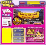 Cheeky Bingo new homepage