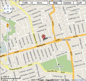 Map of East Ham, London