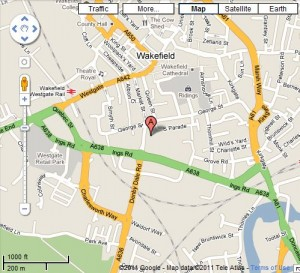 Gala Bingo Wakefield Map and Review one of the UK Bingo Clubs Bingo